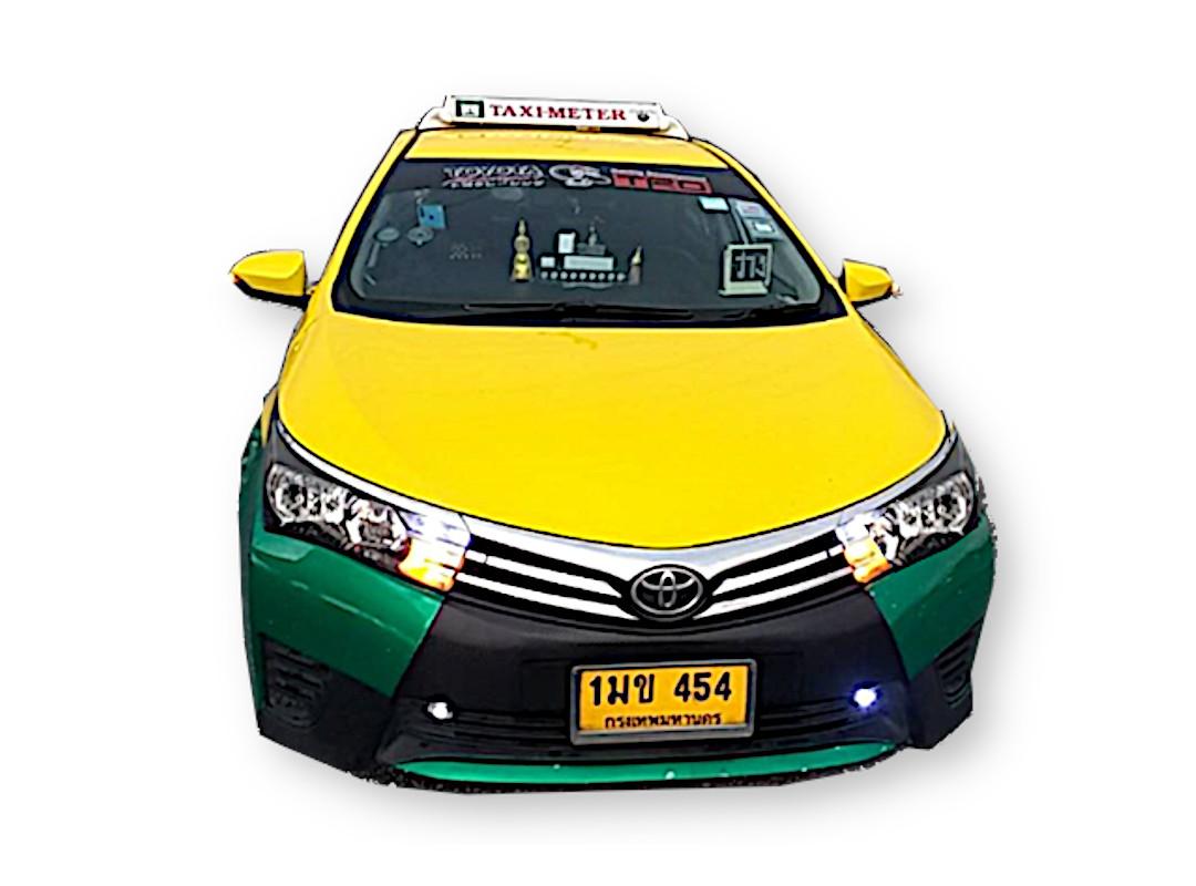 ตัวอย่าง รถแท็กซี่ taxi รถตู้ที่ให้บริการ